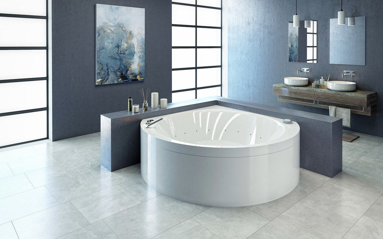 Suri-Wht Relax Air Massage Bathtub - High Gloss