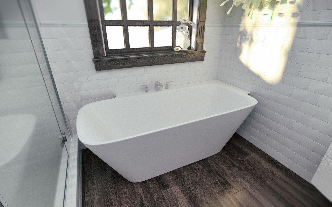 Aquatica Arabella-L-Wht™ Large Corner Solid Surface Bathtub