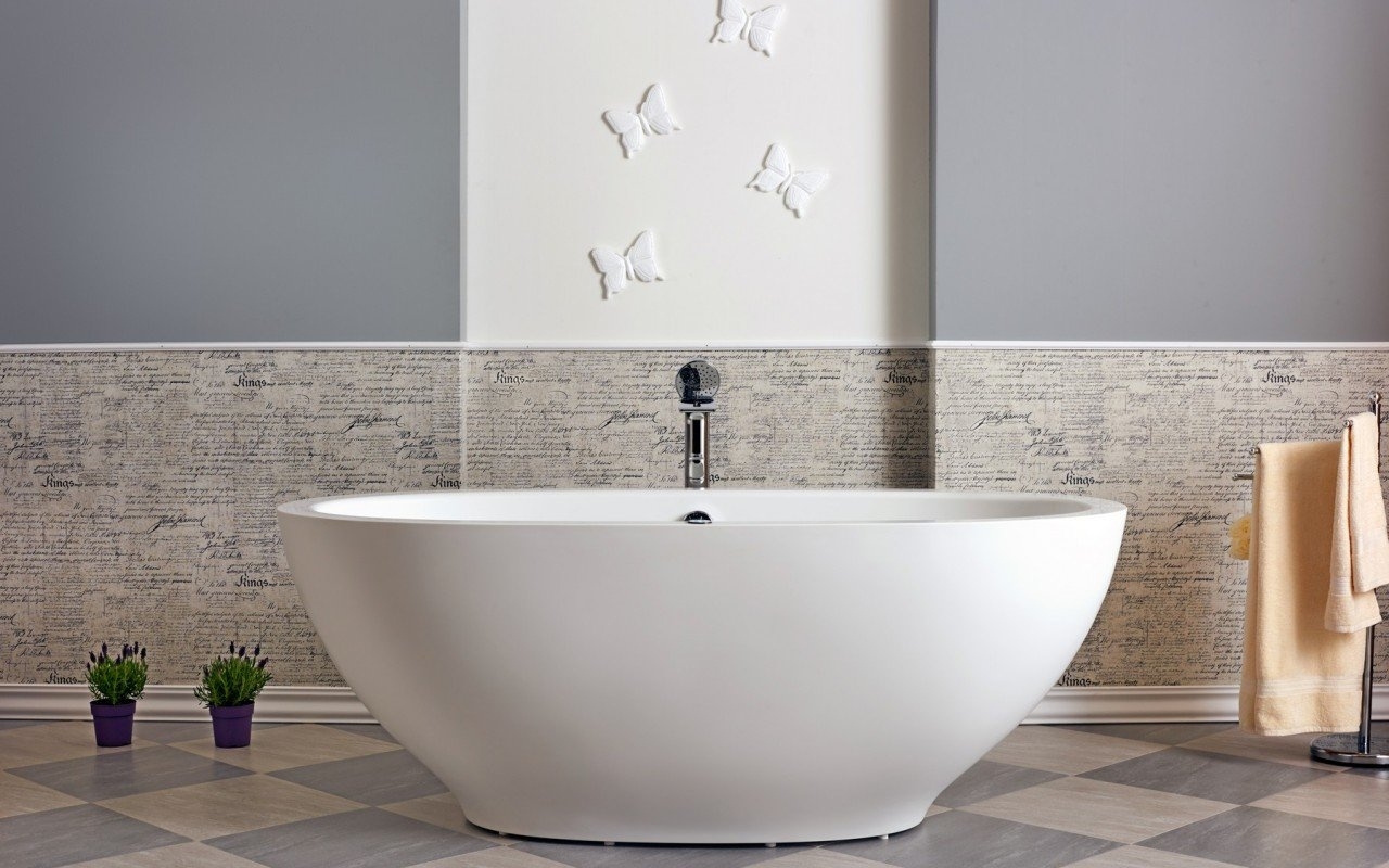 Aquatica Karolina™ Relax Solid Surface Air Massage Bathtub - Fine Matte