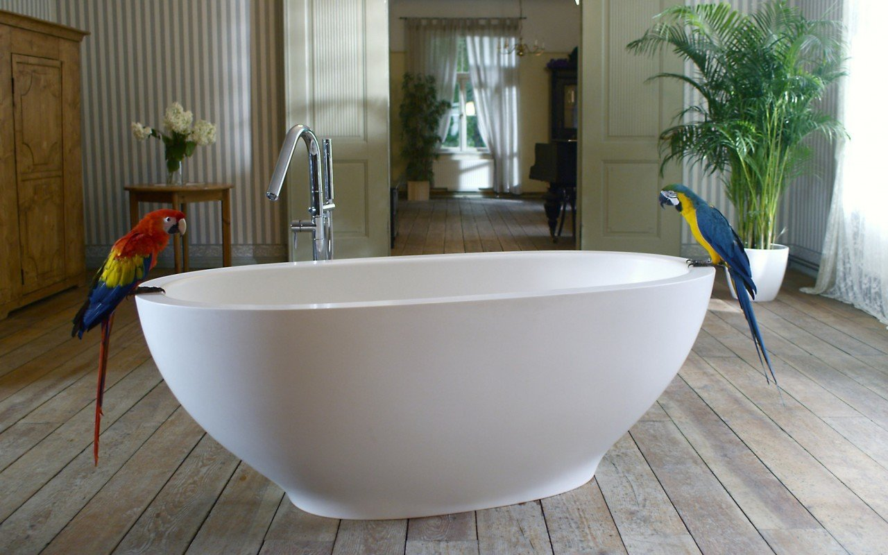 Aquatica Karolina™ Freestanding Solid Surface Bathtub - Fine Matte