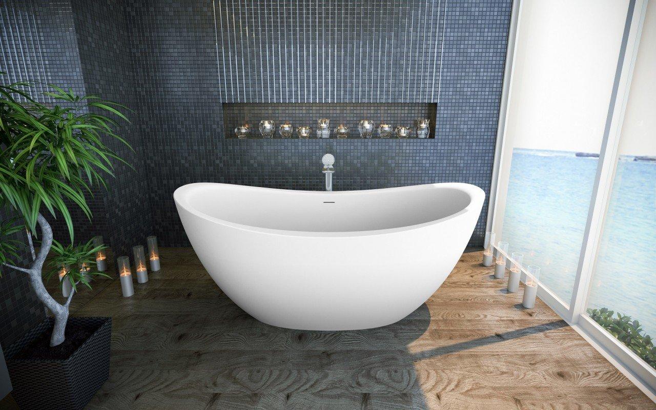 Aquatica Purescape 171 Freestanding Solid Surface Bathtub