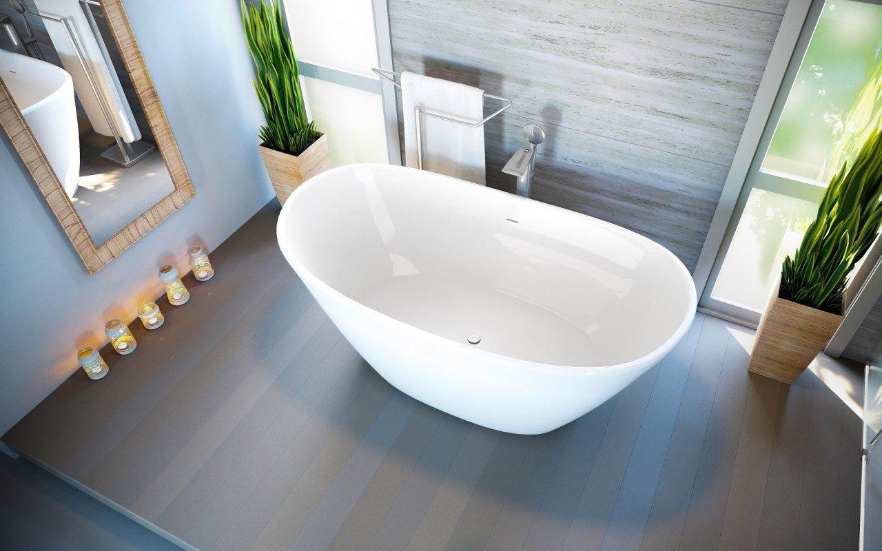Aquatica PureScape™ 748G Freestanding Cast Stone Bathtub -High Gloss