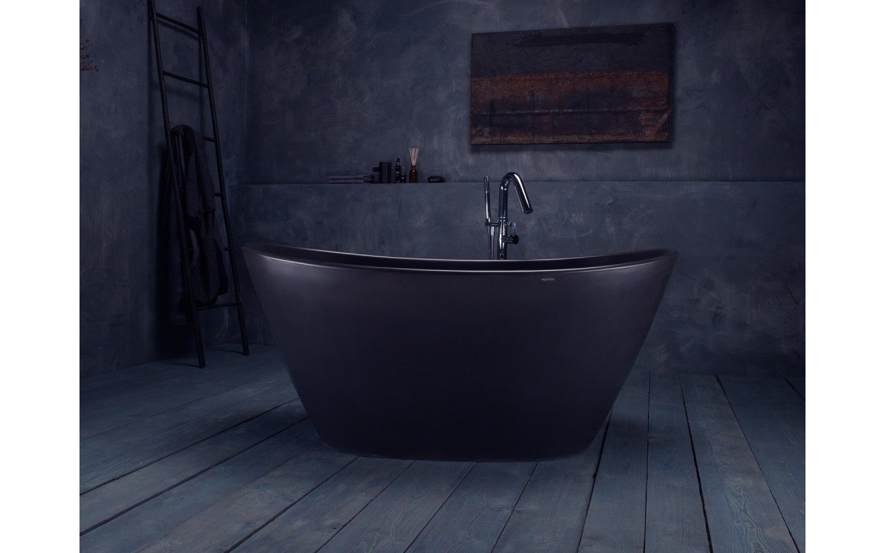 Aquatica PureScape™ 748-BM Graphite Black Solid Surface Bathtub