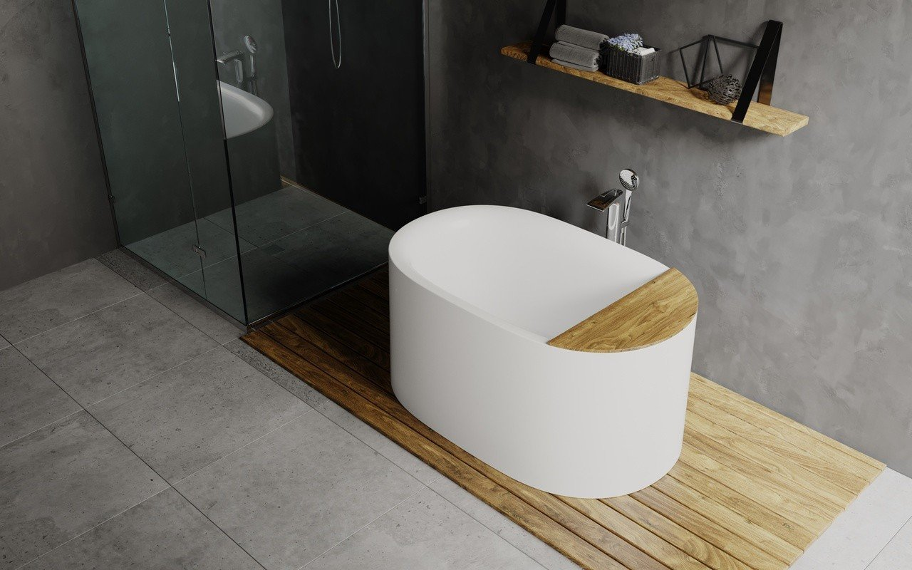 Aquatica Sophia-Wht Freestanding Cast Stone Bathtub - Fine Matte