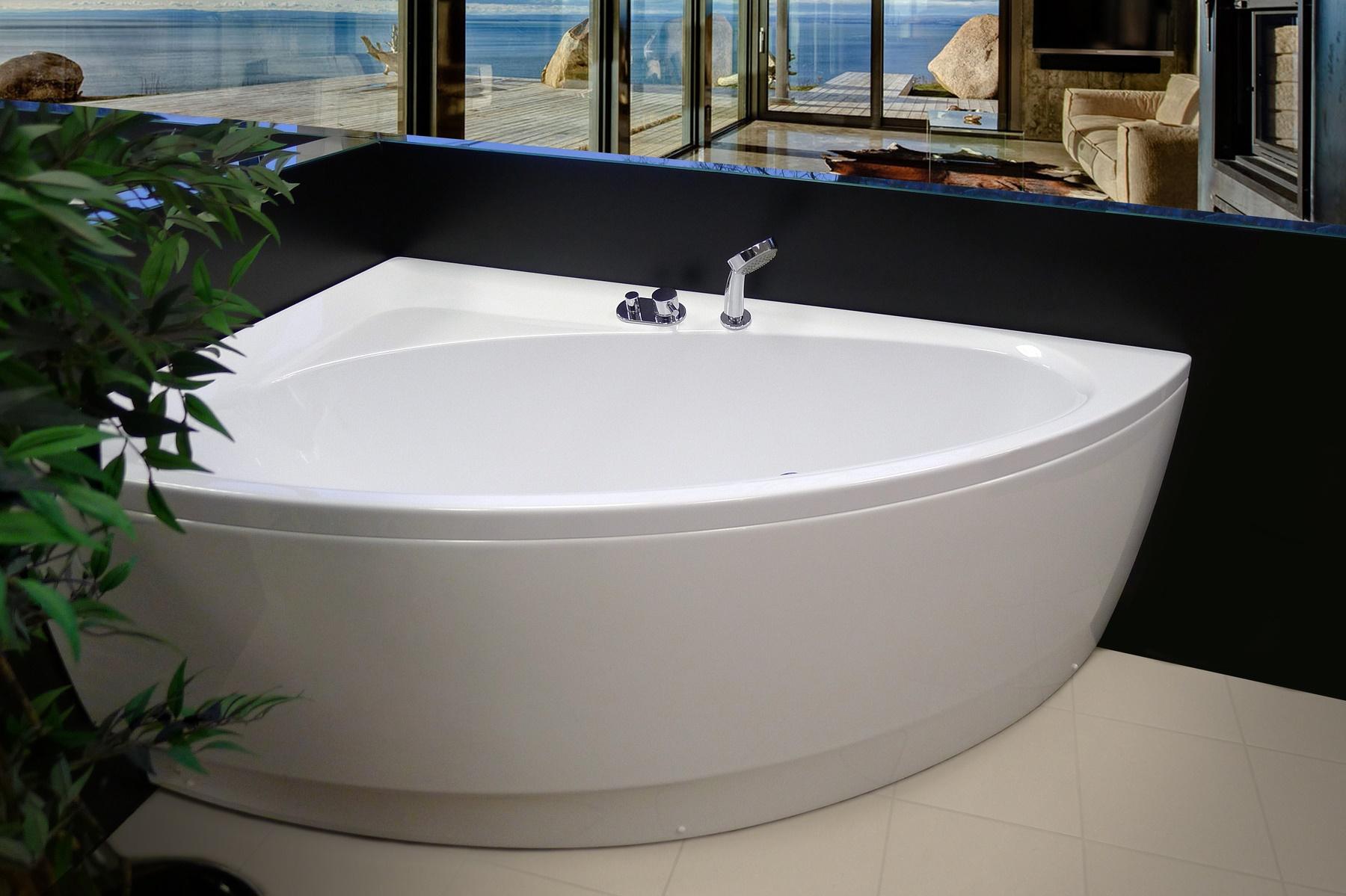 Aquatica Idea-R-Wht Corner Acrylic Bathtub