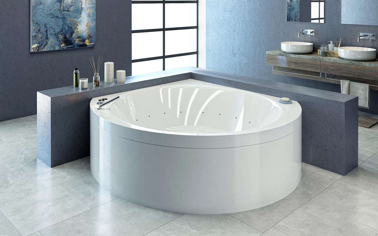 Suri-Wht Relax Air Massage Bathtub - High Gloss