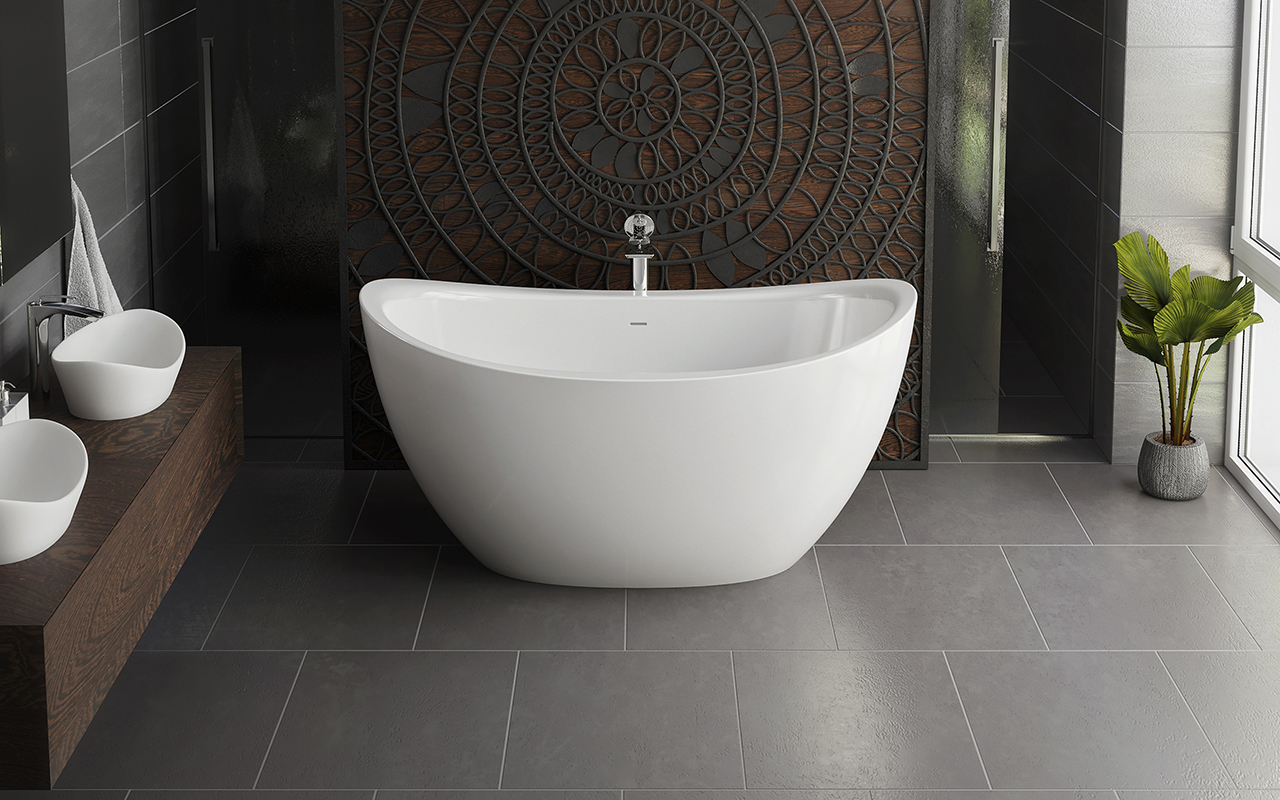 Aquatica Purescape 171 Mini Freestanding Cast Stone Bathtub - Fine Matte